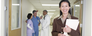 Photo of health care professionals in a hospital