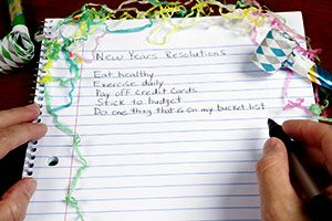 New year's list of resolutions