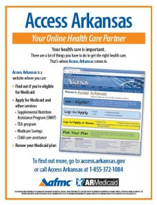 Arkansas Medicaid Beneficiary Education Access Arkansas flier English