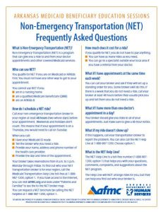 Non-Emergency Transportation Frequently Asked Questions English