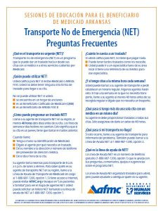 Non-Emergency Transportation Frequently Asked Questions Spanish