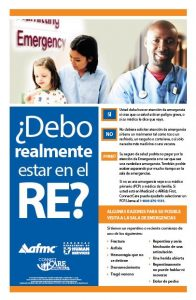 Do you really need to be in ER? Poster Spanish