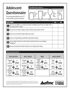 Alcohol - Adolescent CRAFFT questionnaire pad (50 sheets) - English