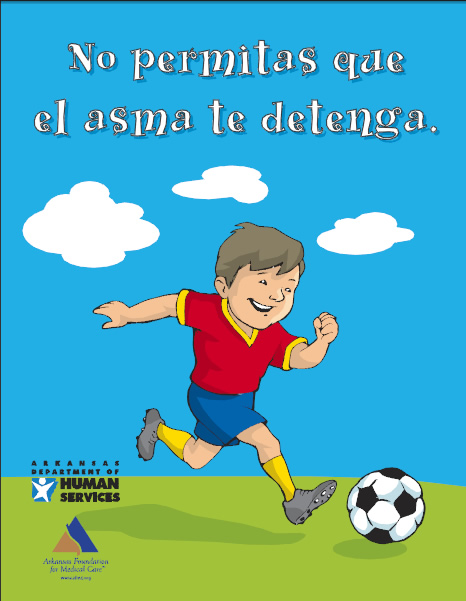 Asthma coloring book, Spanish - AFMC