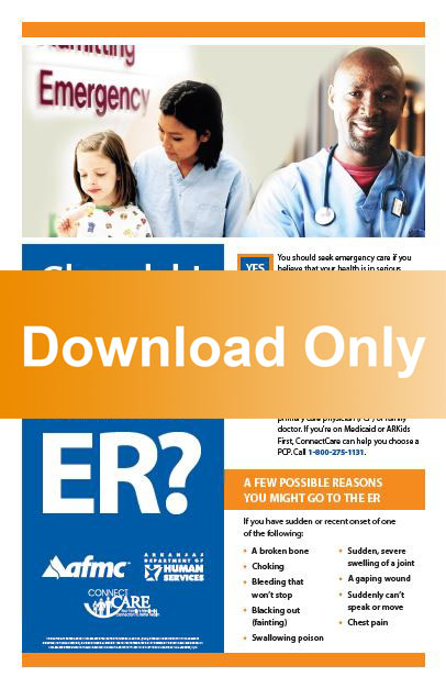 Emergency room poster, English & Spanish (download) - AFMC