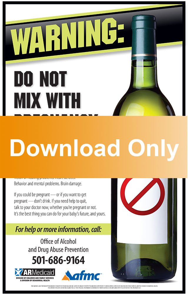 Don't Drink While Pregnant Poster