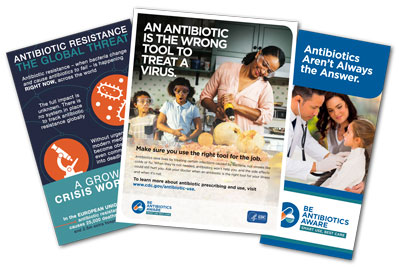 CDC Antibiotic Resistance Resources collage