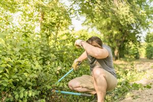 image of hot person working outdoors