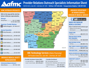 Provider Relations Outreach Specialist Map