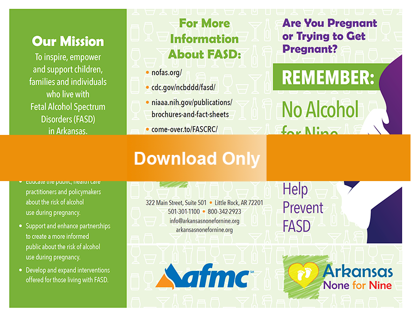 None for Nine Months Alcohol Brochure