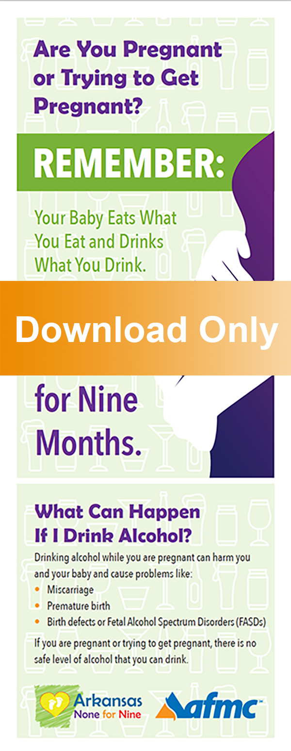 None for Nine Months Alcohol Information Card
